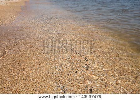 Sea wave. Seascape. Summer landscapeTransparent sea water