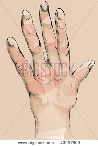 arthritis. abstract human hand with deformed fingers