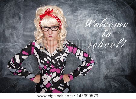 Angry Retro Teacher