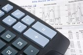 Calculator On A Financial Newspaper