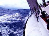 foto of sail-boats  - undulation - JPG
