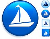 picture of sail-boats  - Sailboat Icon on Internet Button Original Vector Illustration - JPG