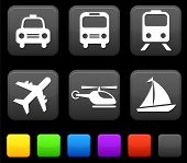 stock photo of transportation icons  - Transportation icon on internet buttons Original vector Illustration - JPG