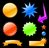 pic of star shape  - Original vector illustration - JPG