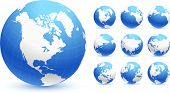 stock photo of world-globe  - globes Original Vector Illustration Globes and Maps Ideal for Business Concepts - JPG