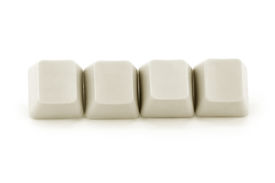 stock photo of keyboard keys  - computer keys with white background close up - JPG