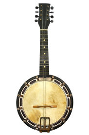 image of string instrument  - Old banjo mandolin - JPG