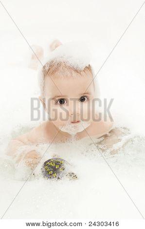 cute baby bath
