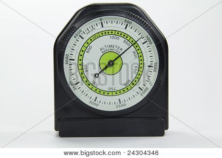 Altimeter Barometer With White Background