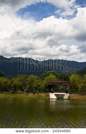 a stop at the lake