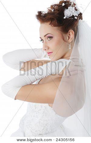 Bride In A White Dress
