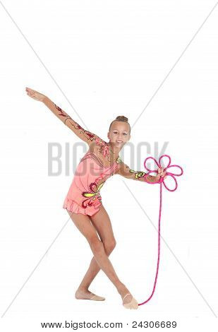 Gymnast Shows The Grace