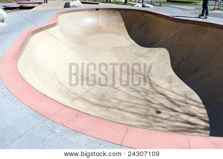 Empty Skate Park Bowl Ramp