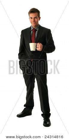 Young Businessmen With Tea Cup