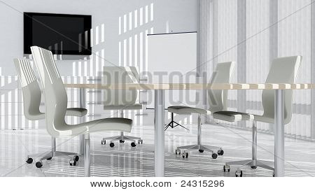 Modern Meeting Room in White