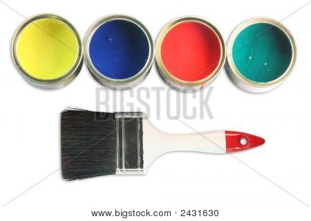 Four Paint Cans