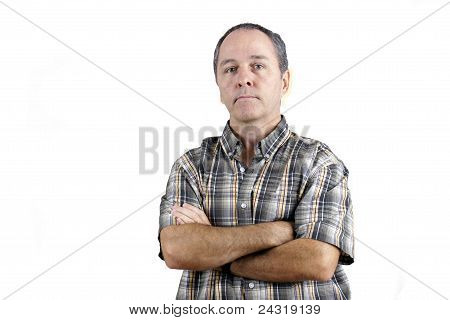 Middle Aged Man With Arms Crossed