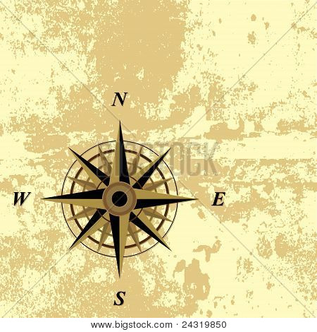 Compass grunge background vector