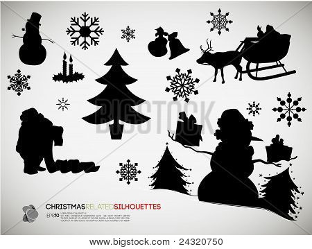Christmas Related Silhouettes