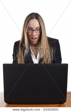 Shocked/Suprised business woman