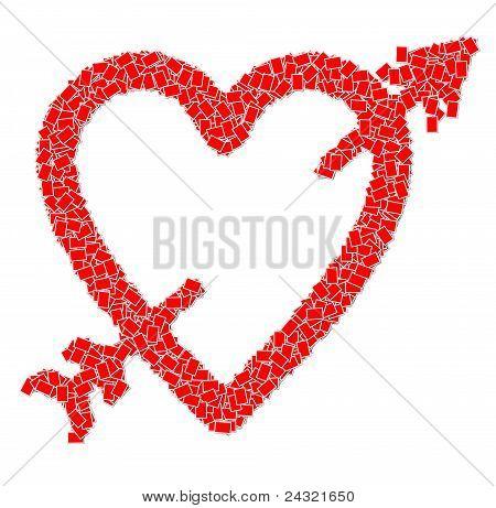 Heart shape and arrow