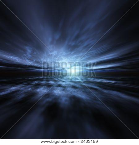 A Blue Star Burst Background