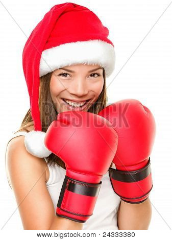Christmas Fitness Boxing Woman