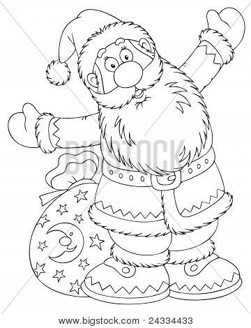 Santa Claus with a toy sack