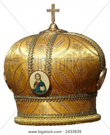 Golden Mitre Solemn Headgear Of The Orthodox Bishop