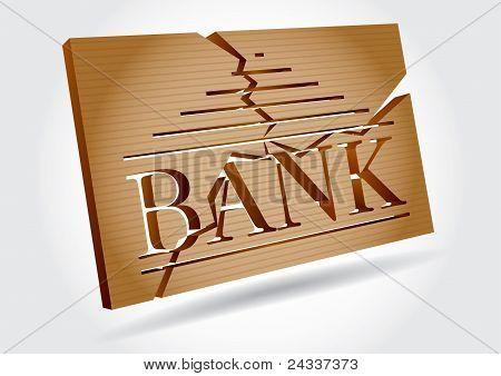 Concepto financiero - quiebras bancarias