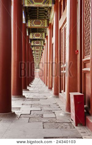 Columnata del templo Ancestral Taimiao