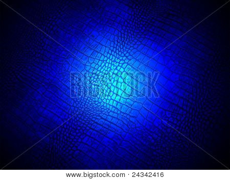 Abstract Blue Lighting Over Crocodile Skin Texture, Science Details