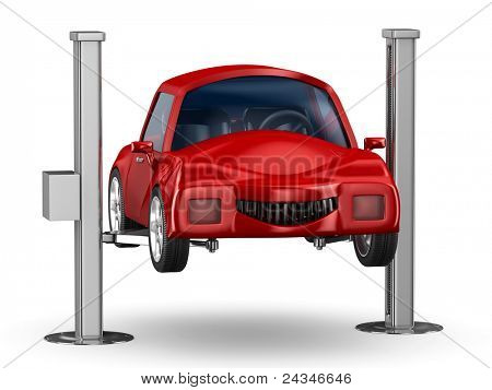 Car service. Isolated 3D image