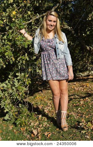 Pretty Girl in the trees