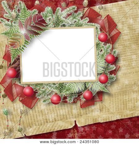Sterne abstrakt mit Papier Rahmen und Bündel von Zweigen Weihnachtsbäume