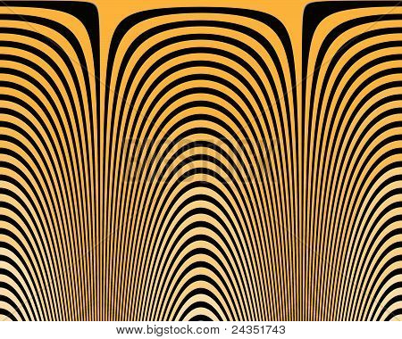 Optical Illusion Hypno yellow