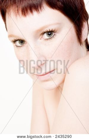 Studio Portrait Of A Mesmerizing Young Woman With Short Hair