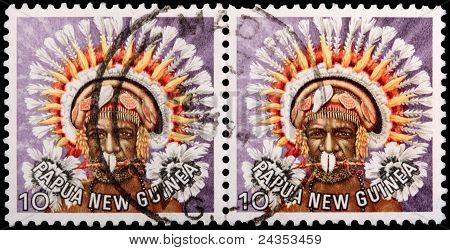 Two 10-toea Stamps Printed In Papua New Guinea