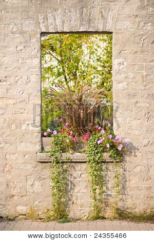 Rustic Stone Window