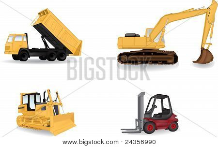 Industry machines vector illustration