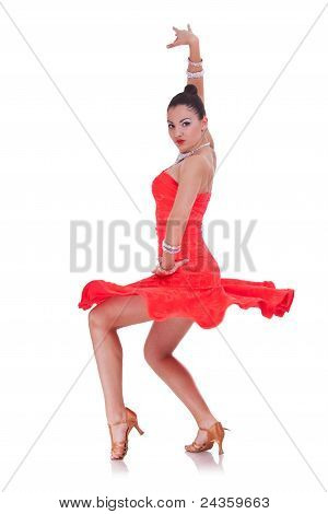 Dancer In A Pirouette Move