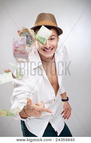 Money Flying Player