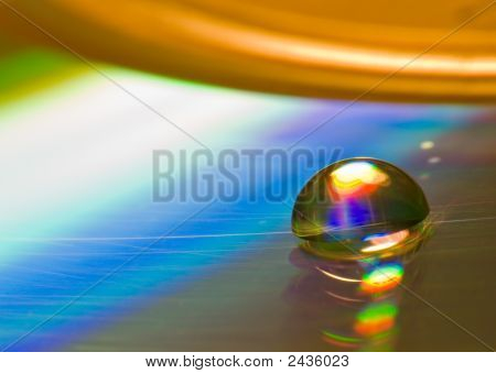Water Drop On The Cd