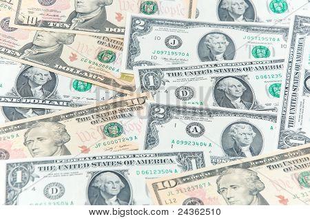 U.s. Dollars In Various Denominations