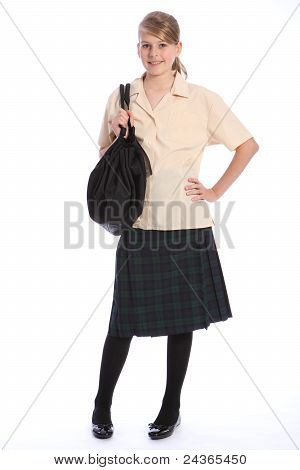 Secondary Education Pretty Girl In School Uniform