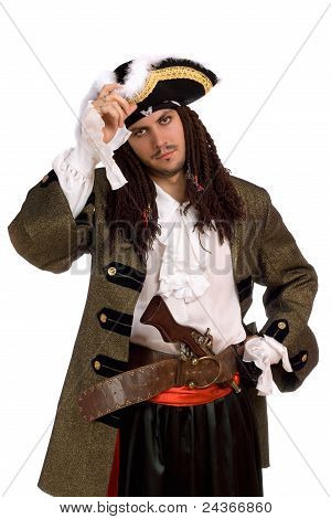 Portrait Of Young Man In A Pirate Costume