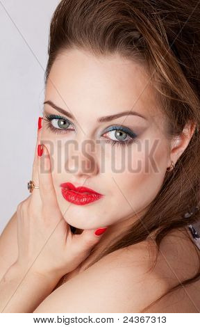Young beautiful girl with big eyes