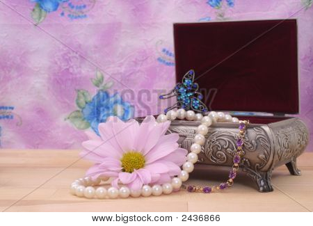 Jewelry Box And Flower