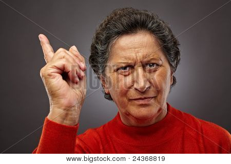 Angry Senior Lady