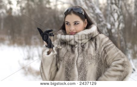Girl In A Fur Coat